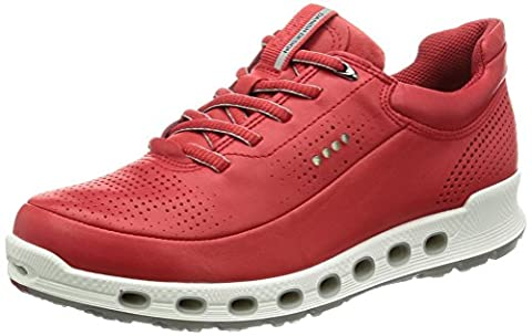 Ecco Damen Cool 2.0 Leather Sneakers, Rot (1046tomato), 41 EU