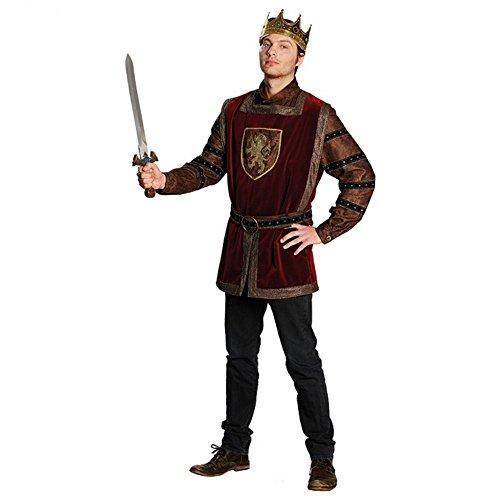 Herren Kostüm König Arthur Gr. 56 Oberteil dunkelrot Mittelalter Fasching