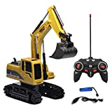 Excavadora Con Control Remoto 1:24 Construcción De Tractores...