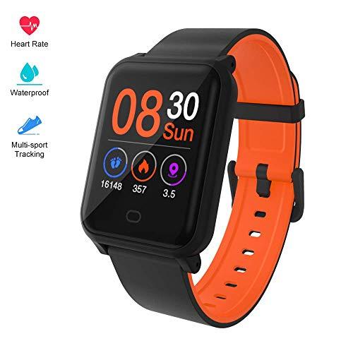 Fitpolo Farbbildschirm Fitnessuhr, IP67 Wasserdicht Aktivitäts-Tracker mit Herzfrequenz-Messgerät, Schrittzähler, Kalorienzähler, Schlafmonitor, SMS/SNS-Alarm, Kompatibel mit iPhone Android Samsung