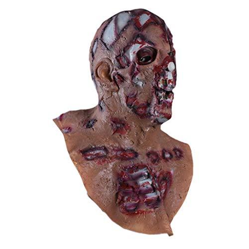 Sexy V Kostüm For Vendetta Adult - Sulifor Halloween Horror Augen Zunge Latex Maske Blutige Fetzen Zombie Maske Halloween Horror Maske Cosplay Scary Horrible Mask Schmelzendes Gesicht Latex Kostüm Halloween Maskerade