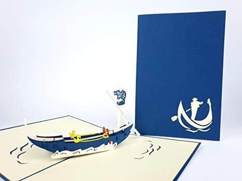 Venice Gondole Di San Marco Italien 3D Pop up Grußkarten Jahrestag Baby Geburtstag Ostern Halloween Mutter Vater New Home NEW YEAR Thanksgiving Valentine Hochzeit Weihnachten