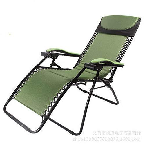 Zichen Klappstuhl Camping Chair Faltbare Sonnenliege, Liegender Garten Sonnendeck mit Tisch - Perfekt for Zuhause/Patio/Terrassendielen/Urlaub/Strand