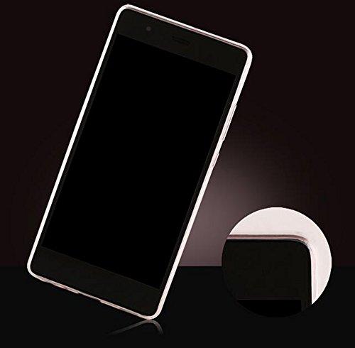 "Nnopbeclik® [Coque Huawei P9 Silicone] ""3D Motif Style"" Soft/Doux Transparente Backcover Housse pour Huawei P9 Coque anti choc (5.2 Pouce) Antiglisse Anti-Scratch Etui - [Parfum Or]"