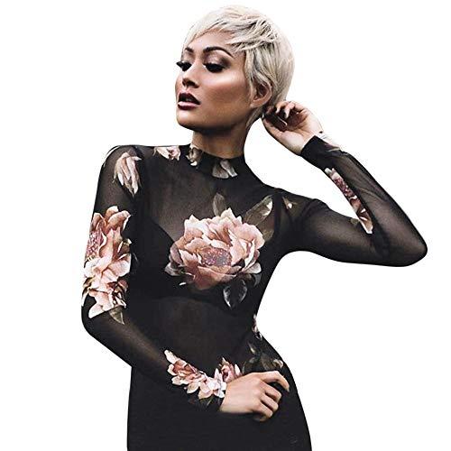 VJGOAL Moda Mujer Camiseta Transparente Transparente