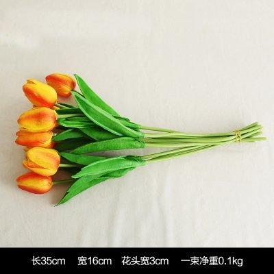 Blume Die Blume Blume Tulpe Simulationstabelle Eingang Home Ausstattung Tv-Schrank Dekoration Blumen Schmuck Schmuck, 10 Orange -
