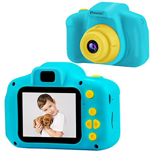 Prograce Kinder Kamera Kinder Digitalkameras für Jungen Mädchen Geburtstag Spielzeug Geschenke 4-12 Jahre altes Kind Action Kamera Kleinkind Video Recorder 1080P IPS 2 Zoll (Jungen Kinder-digitalkamera Für)
