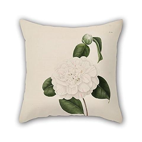 Uloveme Fleur Couvre-lit Taie d'oreiller 45,7x 45,7cm/45, 45cm de cadeau ou décoration pour Monther, anniversaire, chaise, Banc, salon, enfants–Deux