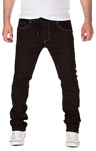 Yazubi Uomo Designer Sweatpants in Jeans-Look Erik - Slim Fit - Pantaloni sportivi, black (30001), W28/L34
