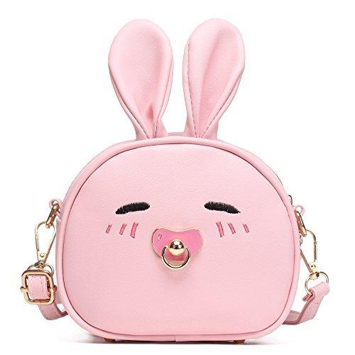 CMK Trendy Kids Damen Häschen-Geldbeutel-Schulter-Beutel Geschenke für Kinder Klein 82011_pink