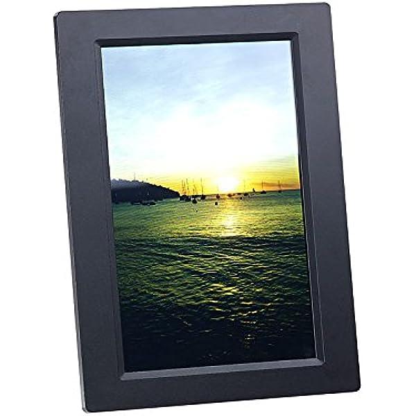 Somikon Digitaler Bilderrahmen Wlan Bilderrahmen Mit 25 7 Cm Ips Touchscreen Weltweitem Bild Upload Fotorahmen Küche Haushalt