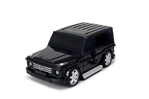 Packenger Kinderkoffer - Mercedes G-Klasse - Original Mercedes Benz Lizenzprodukt, Schwarz, Auto, Bordcase, Koffer mit Teleskopstange und Ziehgurt