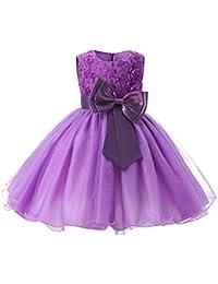 699c052b2 Mxssi Vestidos Niña Flores para Bodas Vestido Fiesta Bow Girl Comunión  Vestido Informal
