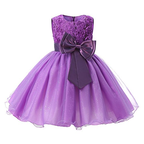 Kids Filles Clothing Formal Teenagers Prom hibote Gown Wedding Party RobesPurple 140CM
