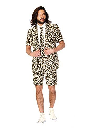 Opposuit Anzug The Jag Summer Suit Leopard Fasching JGA Karneval Kostüm (Herren Anzug Opposuits Gelben)