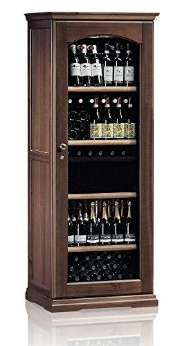 Ip Industrie - Cantina climatizzata in legno massello con porta in vetro e capienza di 138 bottiglie a due zone