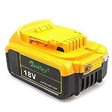 Waitley DCB184 18V 5.0Ah Batería de repuesto para Dewalt DCB200 DCB183 DCB185 DCD785...