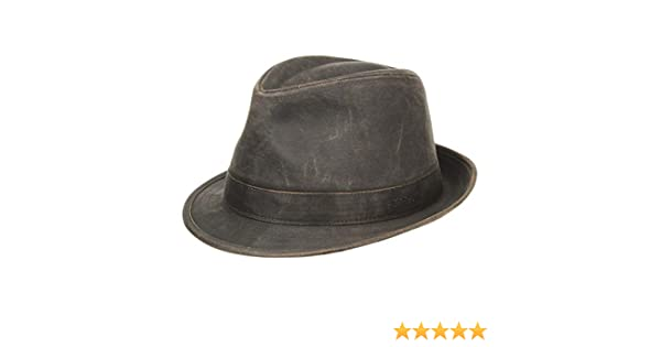 c6f5710778f Stetson Odessa Trilby Cloth Hat trend oilskin hats  Amazon.co.uk  Clothing