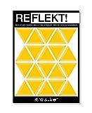 REFLEKT! Dreiecke Gelb (Design und Farbe wählbar) Reflektoren Aufkleber/Sticker – selbstklebend reflektierend Sicherheitsaufkleber für Fahrrad, Kinderwagen, Buggy, Helm, Fahrradhelm