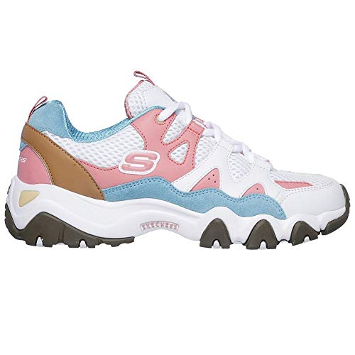 Skechers D?Lites 2.0-Tidal Waves One Piece Zapatillas Mujer Blanco 38