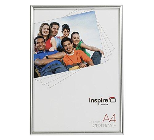 Inspired For Business blra4sv Dos Carga Efecto Plateado A421x 30cm Certificado de Fotos con Marco de Fotos de Cristal Delantero
