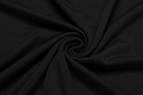 HOTOUCH Damen T-Shirt Kurzarmshirt Blusenshirt Basic Shirt Casual Sommershirt Typ1-Schwarz