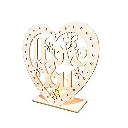Heoolstranger LED-Licht Aus Holz Hochzeit Ornamente Bridal Mr Mrs Hochzeitsdekoration Tisch Hochzeitsdekoration (Mr Und Mrs Hochzeit Tisch Zeichen)