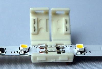3528 Verbindungsclip Verbindungsstecker Doppelstecker für Verbindung zwischen zwei abgetrennten einfarbig 3528 LED SMD Strips Leiste Streifen von SKYFIELD InternationalGmbH auf Lampenhans.de