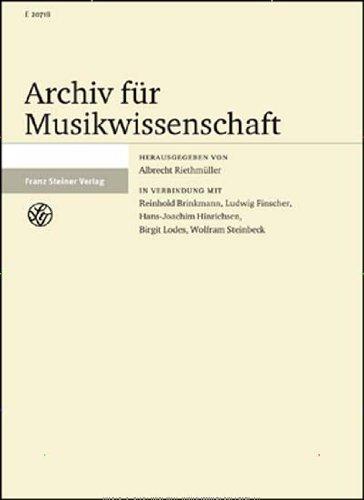 Archiv für Musikwissenschaft (AfMw) [Jahresabo]