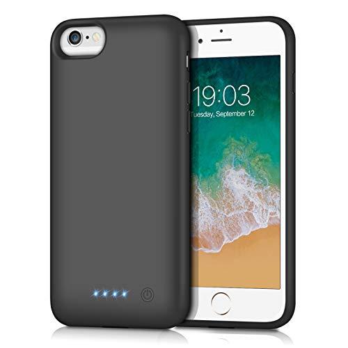 Kilponen Coque Batterie pour iPhone 6/6S/7/8, [6000mAh] Rechargeable Chargeur Batterie Externe Mince Power Bank Portable Étui Batterie Chargeur Cas Protection pour Apple iPhone 6/6S/7/8 (4,7 Pouces)