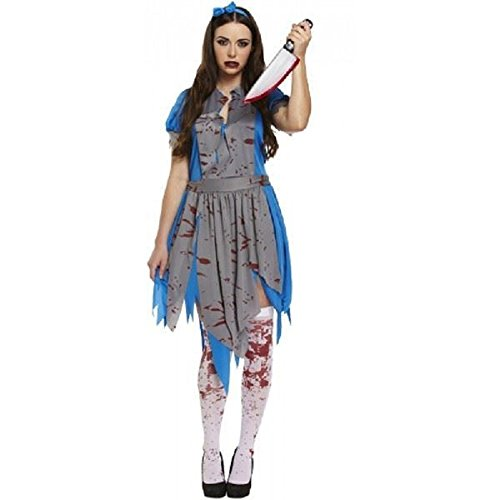 Damen Halloween Horror Alice in Wonderlamd Zombie-Kostüm, Größe -