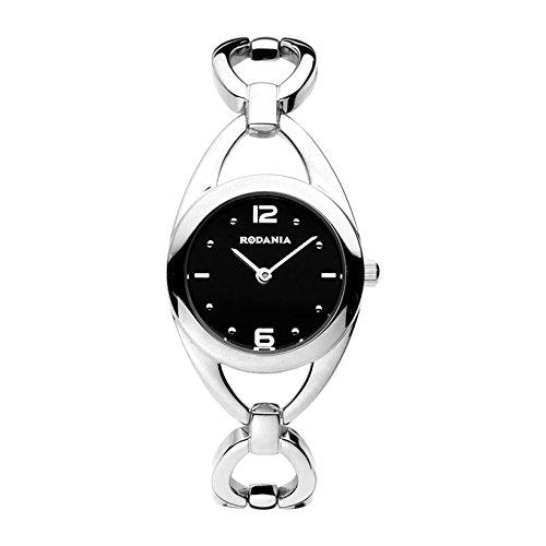 Rodania 24773-46 - Reloj para mujeres, correa de acero inoxidable color plateado