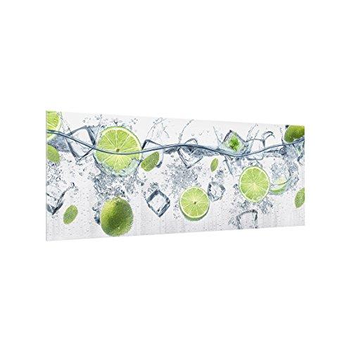 Spritzschutz Glas - Erfrischende Limette 40 x 100cm Sicherheitsglas Scheibe