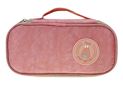 Multifunktionale Reisentasche - Elektronische Tasche, Kosmetiktasche, Medizintasche, Digital Speicher Paket Datenkabel Paket Tragetasche Elektronik Zubehör Tragbare Reisetasche Organisator Tasche Rosa