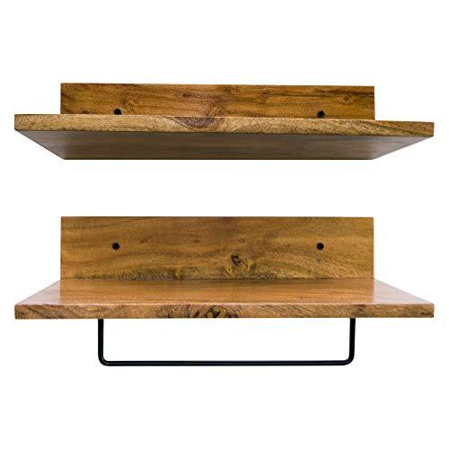 Core Rustic Rustikales Wandregal 2er Set für Wohnzimmer, Bad, Küche, Büro und mehr (17 L x 8 W) -