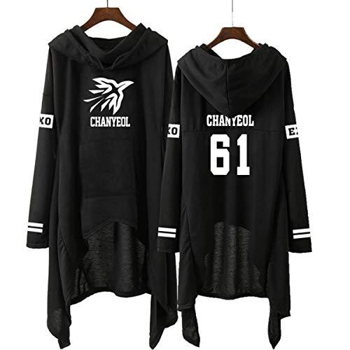 Forever Younger EXO Langarm Unregelmäßige Hoodies Kapuzenpullover Sweatshirts Party Harajuku Streetwear Kleid Xiumin Kai Sehun Chanyeol Baekhyun Chen (2,M)