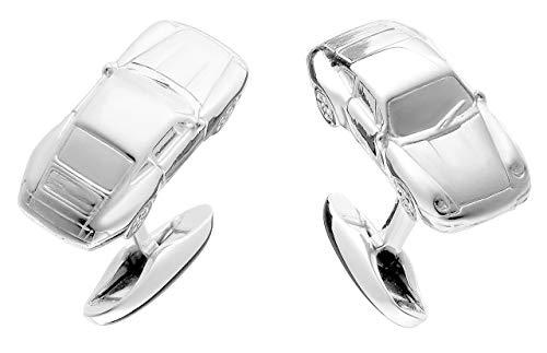 Manschettenknöpfe aus 925 Silber im Sportwagen Design