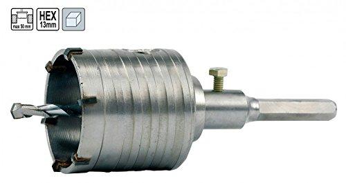 Vorel 03241 - Bohrkrone Ø 80 mm, 50mm Länge, 13mm Hex für Naturstein, beton, Klinker etc.