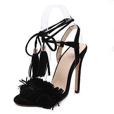 fibbia Pompe Donna out Peep Sandali Bowknot caviglia Black Hollow cinturino Platform Sandals alla Ruched Stiletto toe tacchi Heel zhENfu YXdqxHRwx