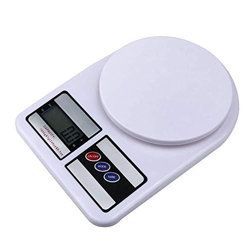 LBSX Digitale Küchenwaage aus Edelstahl - Elektronische Haushaltskochwaage zum Wiegen von Lebensmitteln mit Einer Genauigkeit von bis zu 7 kg