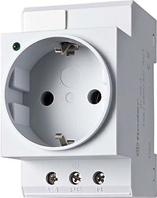 Finder Schuko - Steckdose mit LED für Tragschiene 16 A, 250 V AC, 1 Stück,