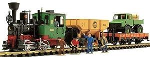 Start-Set Dampflok Stainz und 2x Gueterwagen mit Figuren, Gleiskreis und Fahrregler