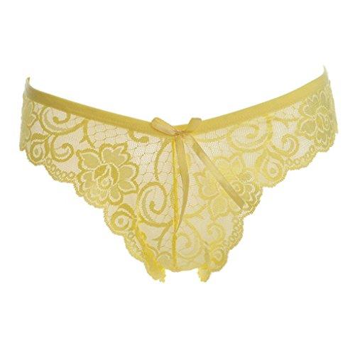 Arichtop Floral Lace Stickerei Frauen Briefs Solid aushöhlen Höschen nahtlose transparente Unterwäsche (Brief Floral Hipster)