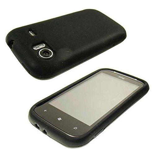 caseroxx Handy TPU-Bumper für HTC Mozart 7 aus Silikon, stoßfeste Schutzhülle Smartphone (Handyhülle Silikon in schwarz)