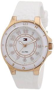Reloj Tommy Hilfiger 1781275 de cuarzo para mujer con correa de silicona, color blanco de Tommy Hilfiger
