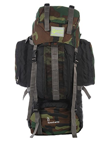 Impulse Climate Proof Mountain Rucksack / Hiking / Trekking / Camping Bag / Backpack 75 ltrs Camouflage Army Print Rucksack with Rain Cover