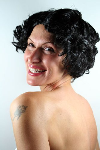 WIG ME UP VK Event Fashion - Perruque Noire, Style Betty Boop, Burlesque, 30'S, Glamour. Idéal Pour Carnaval
