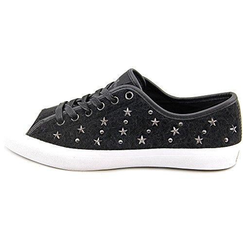 Coach Empire Star Femmes Toile Baskets Black-Black