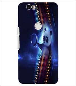 PrintDhaba Panda D-4994 Back Case Cover for HUAWEI NEXUS 6P (Multi-Coloured)