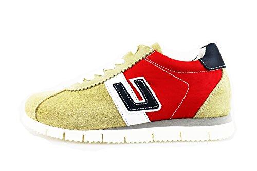 CESARE PACIOTTI 4US 32 EU sneakers bambino beige camoscio rosso pelle AG111